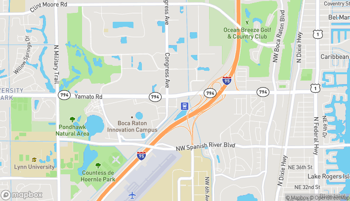 Mapa de 694 Yamato Rd Bay 1 en Boca Raton