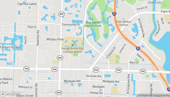 Mapa de 801 Village Blvd en West Palm Beach
