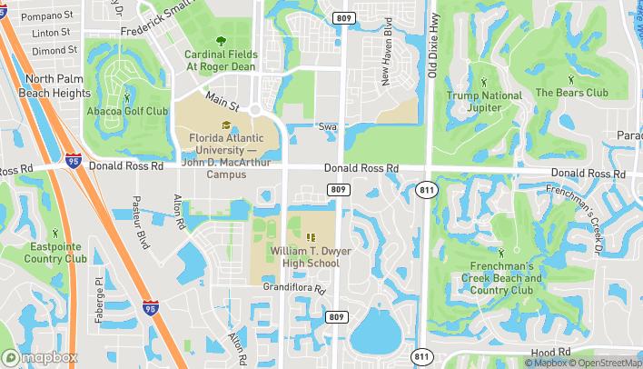 Mapa de 4550 Donald Ross Rd en Palm Beach Gardens
