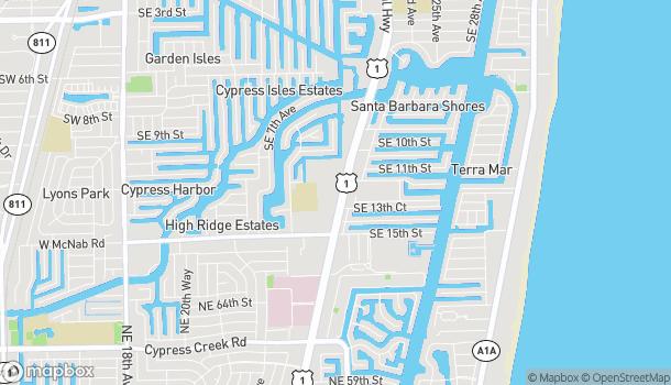 Mapa de 1299B S Federal Hwy en Pompano Beach