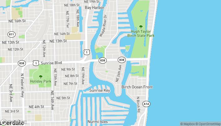 Mapa de 2414 East Sunrise Blvd en Fort Lauderdale