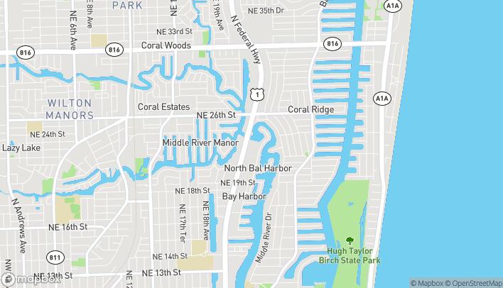 Mapa de 2424 N Federal Hwy en Fort Lauderdale