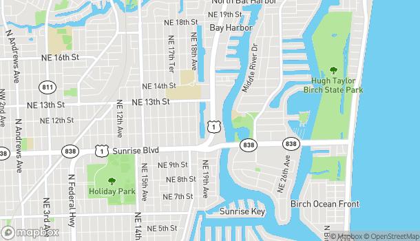 Mapa de 1165 North Federal Hwy en Fort Lauderdale