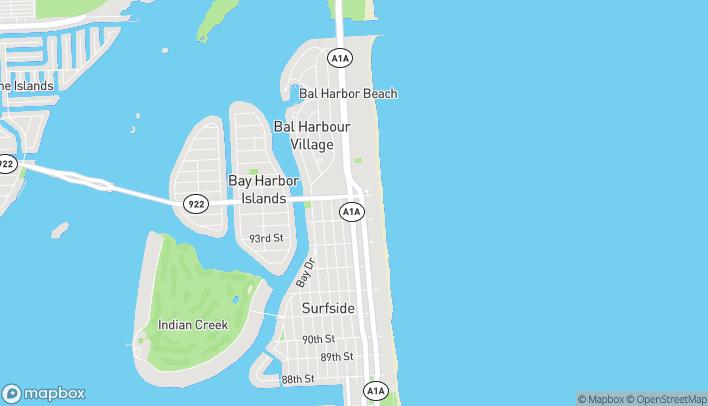 Map of 9569 Harding Ave in Surfside