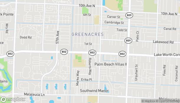 Map of 5177 Lake Worth Road in Greenacres