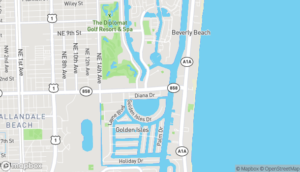 Map of 2309 E Hallandale Beach Blvd in Hallandale Beach