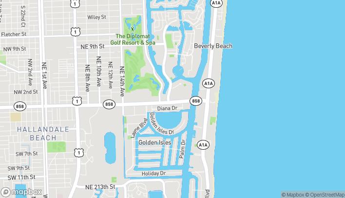 Mapa de 2309 E Hallandale Beach Blvd en Hallandale Beach