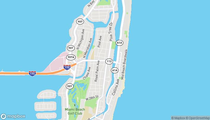 Map of 339 Arthur Godfrey Rd in Miami Beach