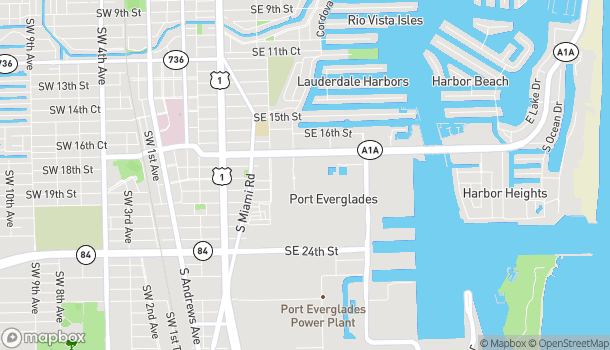 Map of 1814 Cordova Rd in Ft Lauderdale