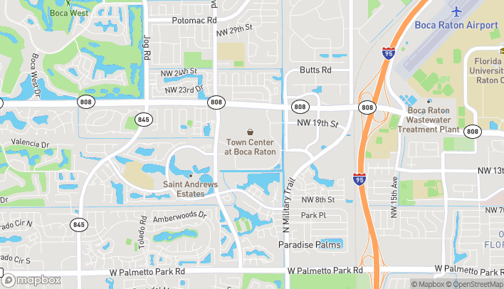 Mapa de 6000 Glades Road en Boca Raton