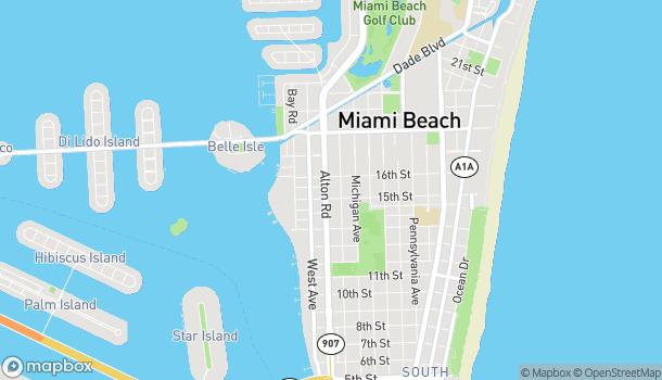 Map of 1517 Alton Rd in Miami Beach