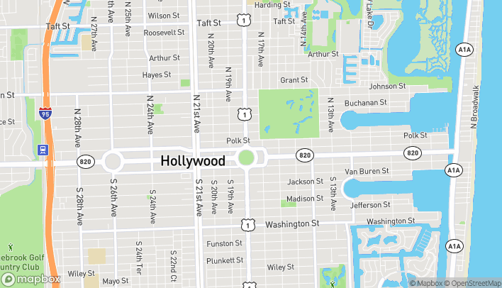 Mapa de 1761 N Young Circle en Hollywood