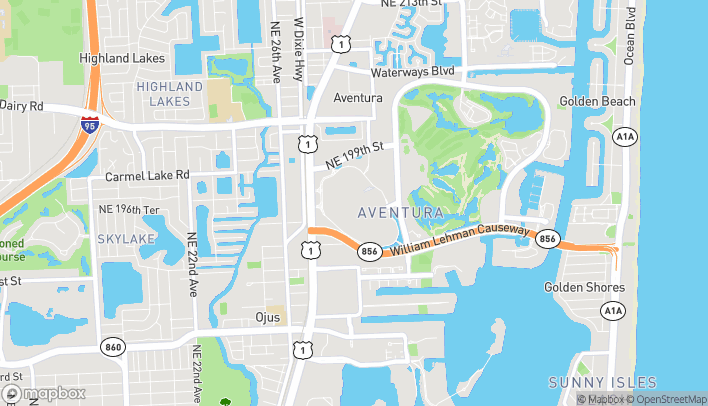 Map of 19501 Biscayne Blvd in Miami