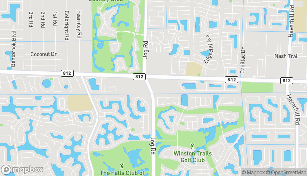 Map of 6346 Lantana Road in Lake Worth