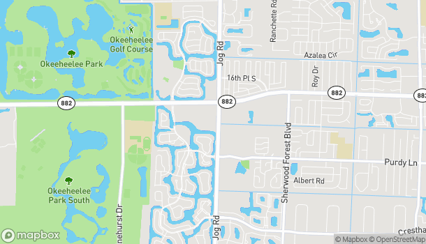 Map of 6748 Forest Hill Blvd in Greenacres
