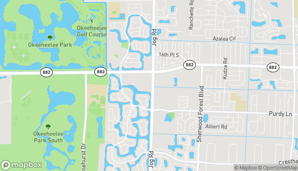 Mapa de 6748 Forest Hill Blvd en Greenacres