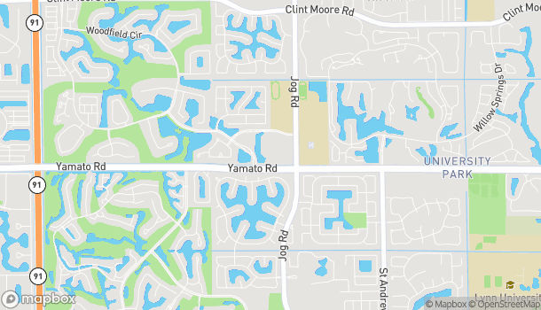 Map of 3013 Yamato Rd in Boca Raton