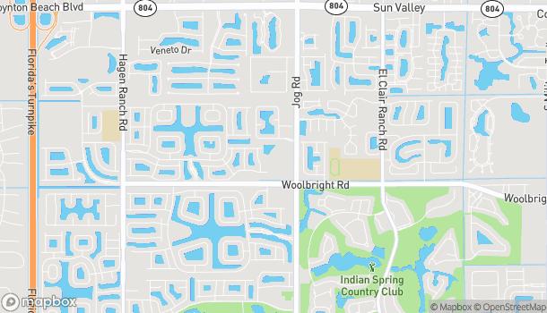 Mapa de 10921 S. Jog Road en Boynton Beach