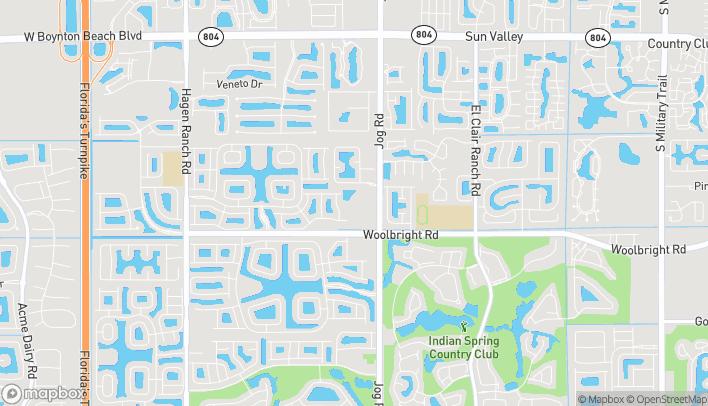 Map of 10921 S. Jog Road in Boynton Beach