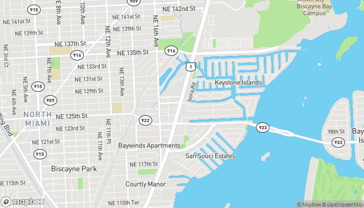 Map of 12599 Biscayne Blvd in North Miami