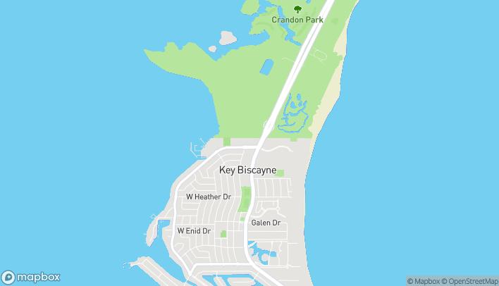 Mapa de 57 Harbor Dr en Key Biscayne