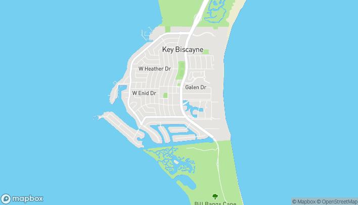 Mapa de 650 Crandon Blvd en Key Biscayne