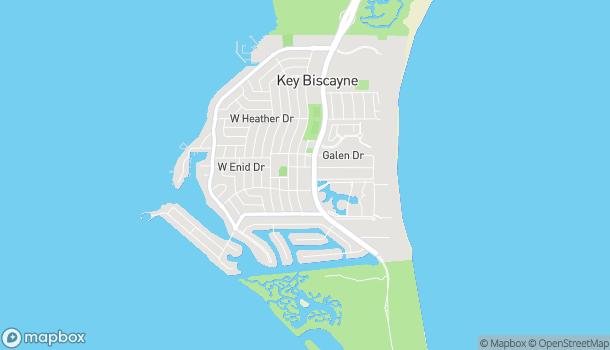 Map of 650 Crandon Blvd in Key Biscayne