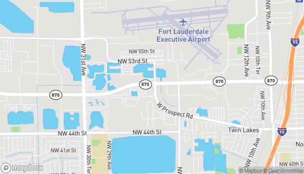 Mapa de 2400 W Commercial Blvd en Fort Lauderdale