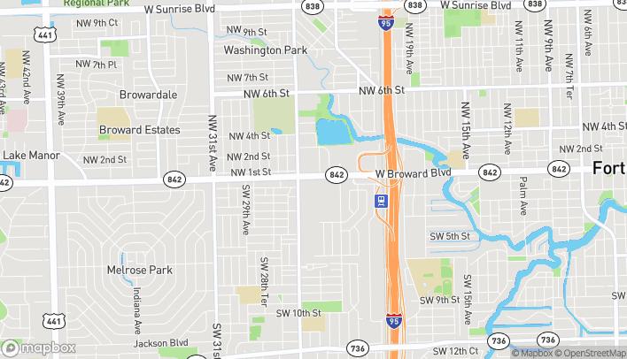 Map of 2610 W Broward Blvd in Fort Lauderdale