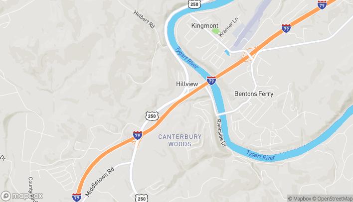 Mapa de 2317 White Hall Boulevard en White Hall