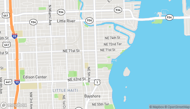 Map of 6916 Biscayne Blvd in Miami