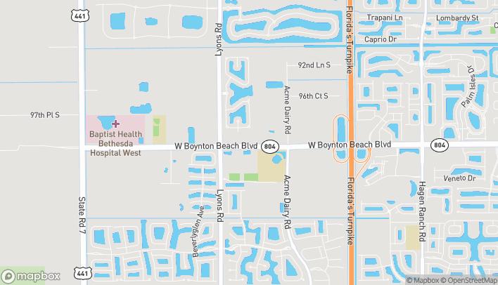 Mapa de 8773 Boynton Beach Blvd en Boynton Beach