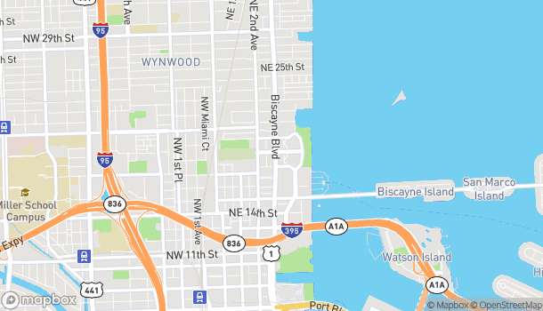 Mapa de 1790 Biscayne Blvd en Miami