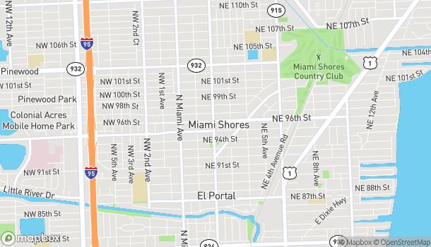 Mapa de 9533 NE 2nd Ave en Miami Shores