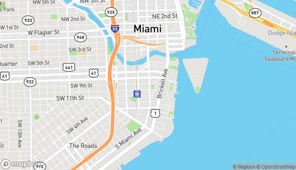 Map of 900 S. Miami Ave in Miami