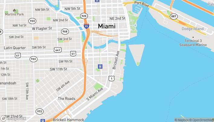 Mapa de 900 S. Miami Ave en Miami