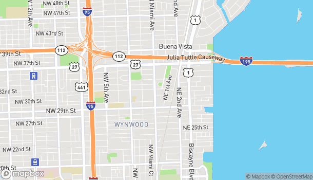 Map of 3101 N Miami Ave in Miami