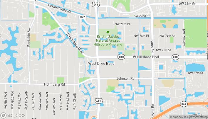 Mapa de 6970 N State Road 7 en Coconut Creek