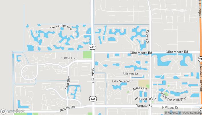 Mapa de 9858 Clint Moore Rd en Boca Raton