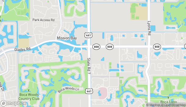 Map of 9924 Glades Road in Boca Raton