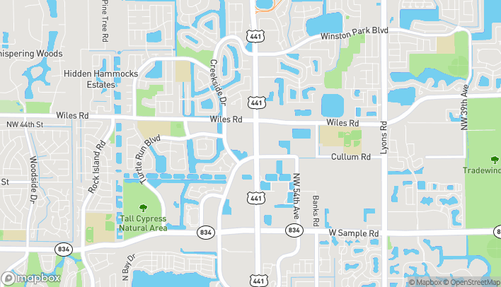 Mapa de 4240 N State Rd 7 en Coral Springs