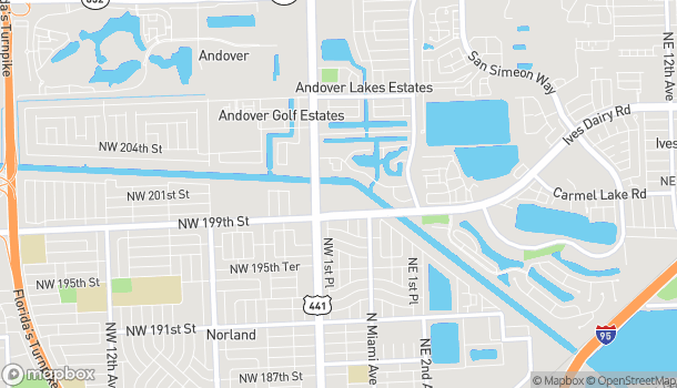 Map of 19975 NW 2nd Ave in Miami Gardens