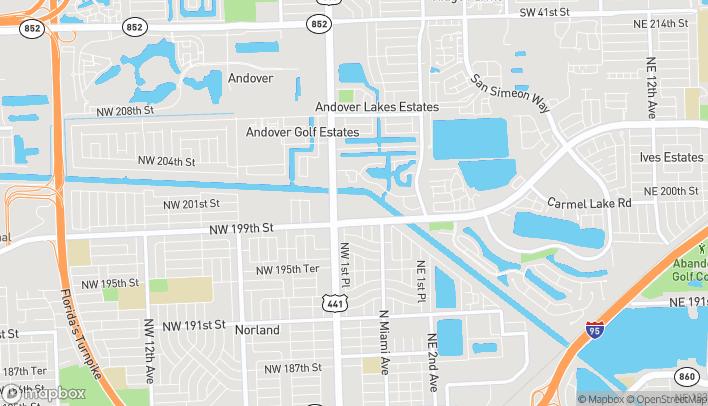 Mapa de 19975 NW 2nd Ave en Miami Gardens