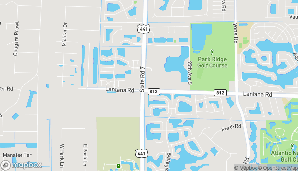 Map of 5940 South State Road 7 in Lake Worth