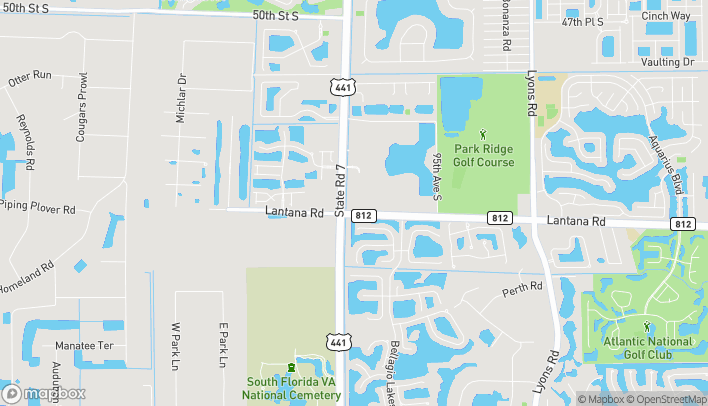 Mapa de 5940 South State Road 7 en Lake Worth