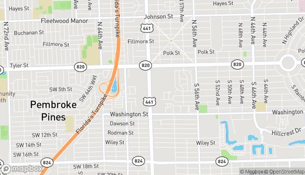 Mapa de 333B South Sr 7 en Hollywood