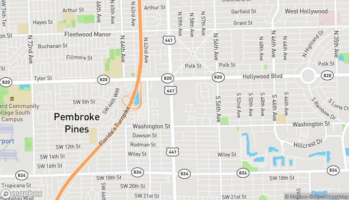 Map of 333B South Sr 7 in Hollywood