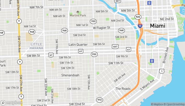 Mapa de 1221 SW 8th Street en Miami