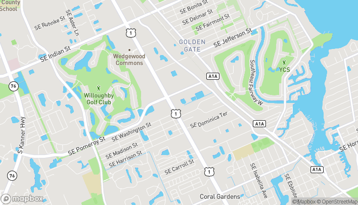 Map of 4255 SE Federal Hwy in Stuart