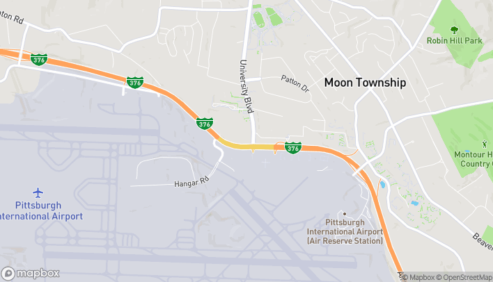 Map of 9898 University Blvd in Moon Township